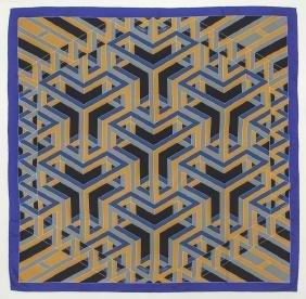 "Hermes ""Carre Cube"" silk scarf"