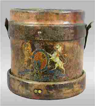 English fire bucket with Royal Crest