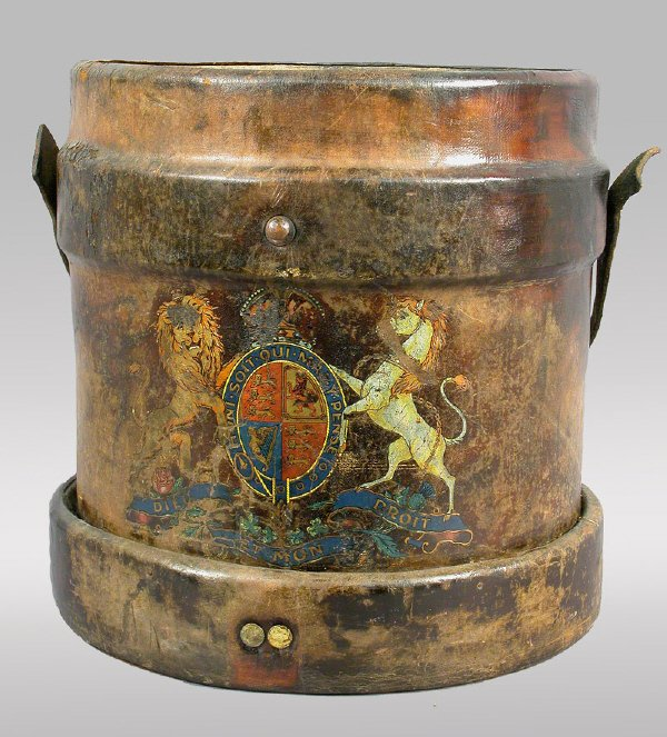 7: English fire bucket  with Royal Crest