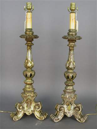 Italian altar candlesticks with argente finish