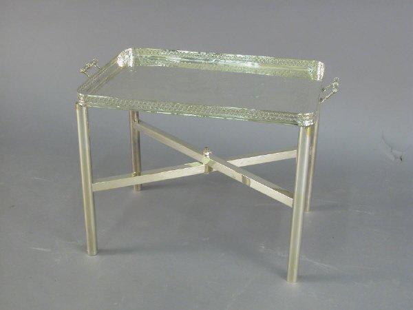 "22: A nice plated silver tea tray marked ""Joseph"