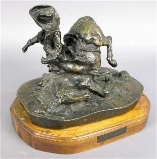 Signed Metz Castleberry Western Bronze