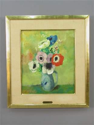 Signed Jean de Botton (LL) oil on canvas still
