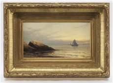 "Alfred Thompson Bricher ""Maine Coast, Sunset"" oil"