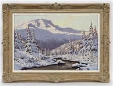 Laszlo Neogrady Untitled Snowy mountain scene