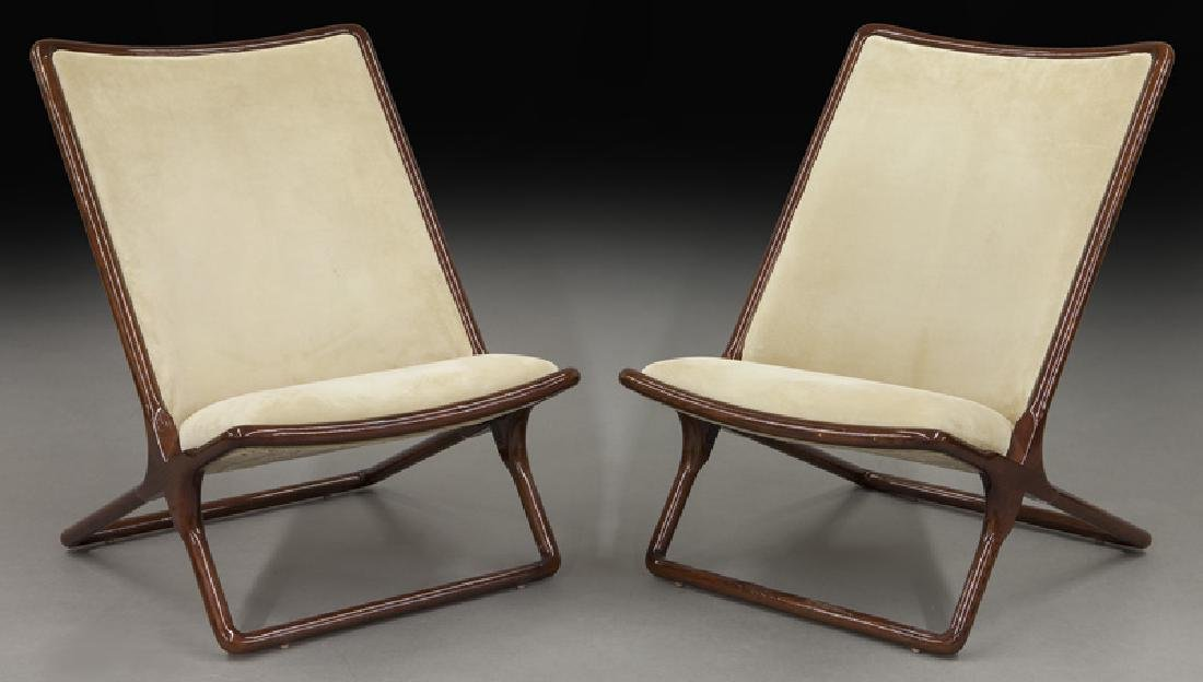 """Pr. Ward Bennett """"Scissor"""" chairs for Brickel"""