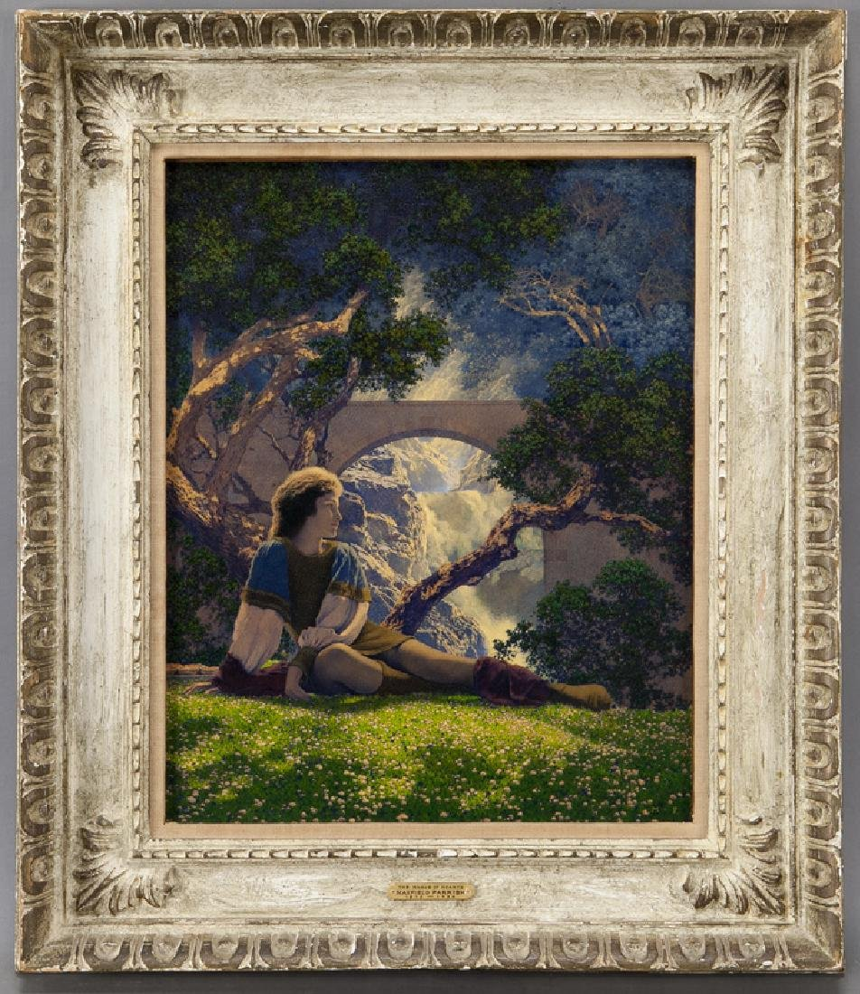 """Maxfield Parrish """"The Knave"""" oil on board, 1925."""