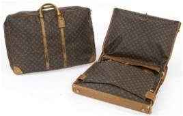 (2) Louis Vuitton luggage bags