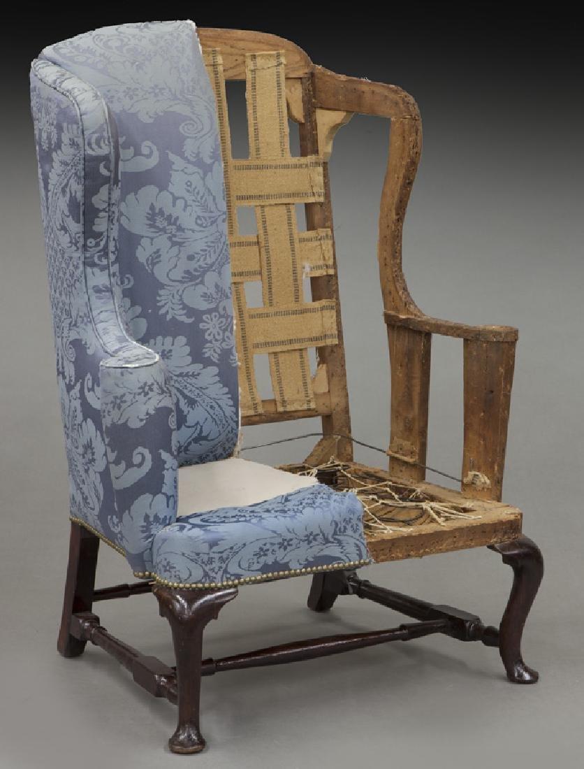 Early Boston area walnut wing chair