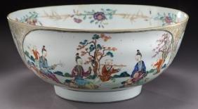 Chinese Qianlong Mandarin Palette Export Porcelain