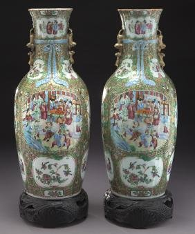 Pr. Chinese Qing Cantonese Famille Rose Baluster