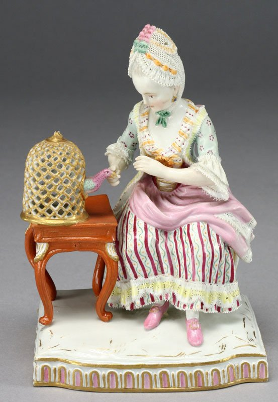 9: A Meissen porcelain figure of a lady representing