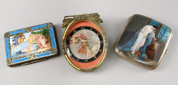 12: (3) Decorative objects de vertu including: