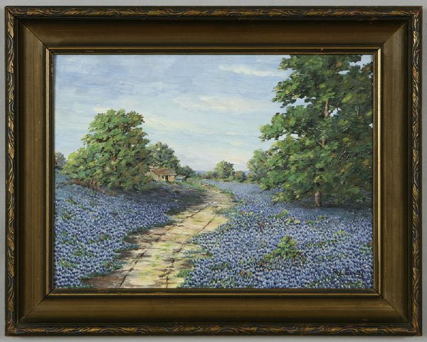 15: Mollie Crowther oil painting on board Texas