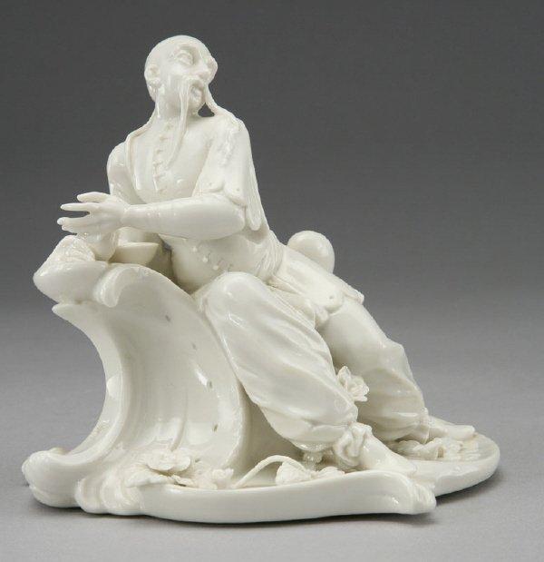 22: Nymphenburg blanc de chine Bustelli figure,
