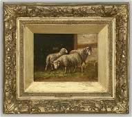 75: Emile Antoine Herson oil painting on board