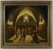 88: School of Francois Maruis Granet oil painting