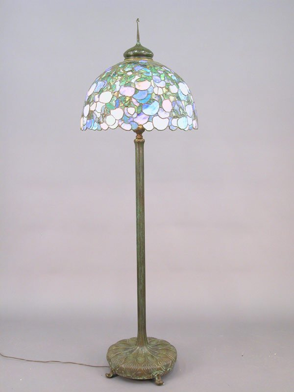 270: Marked Tiffany leaded and stained glass