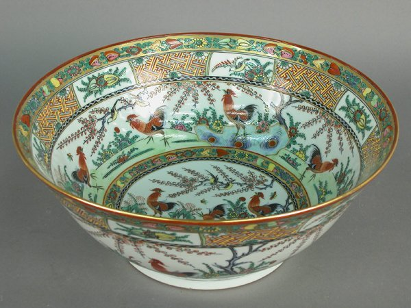 8: Chinese export famille rose punch bowl, ci