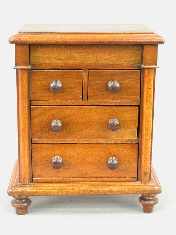 16: Apprentice cabinet maker's four drawer ch