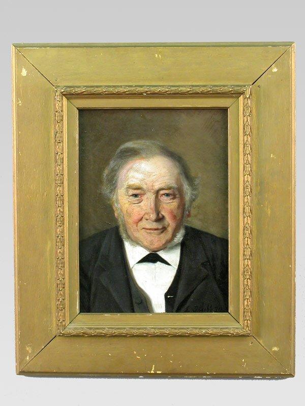 20: Antique original oil on canvas in perfect