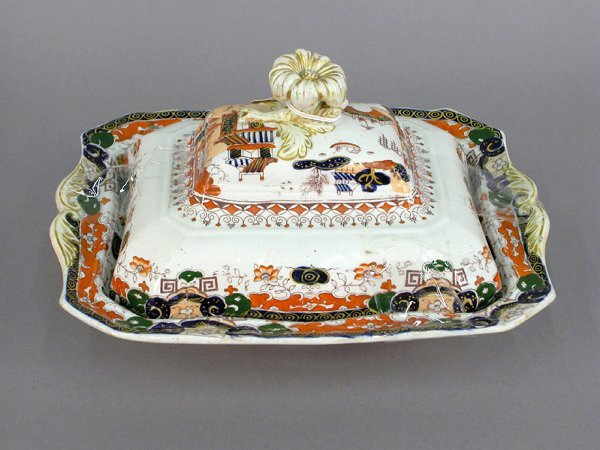 401: Mason's ironstone covered vegetable dish