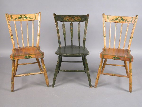 403: Pair of early American chairs with hand-