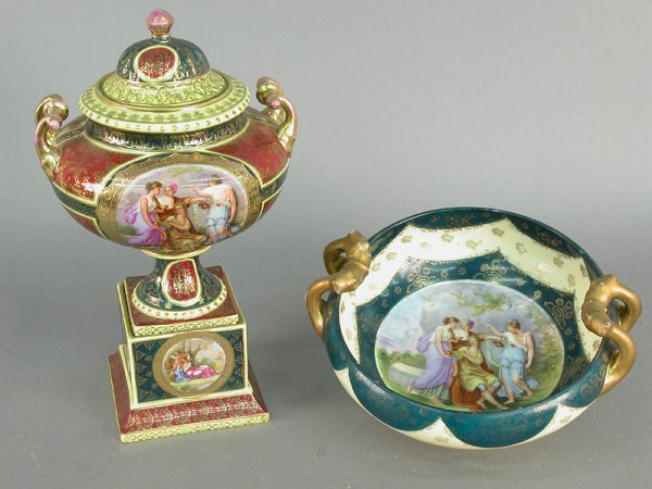 404: Two marked Royal Vienna items including