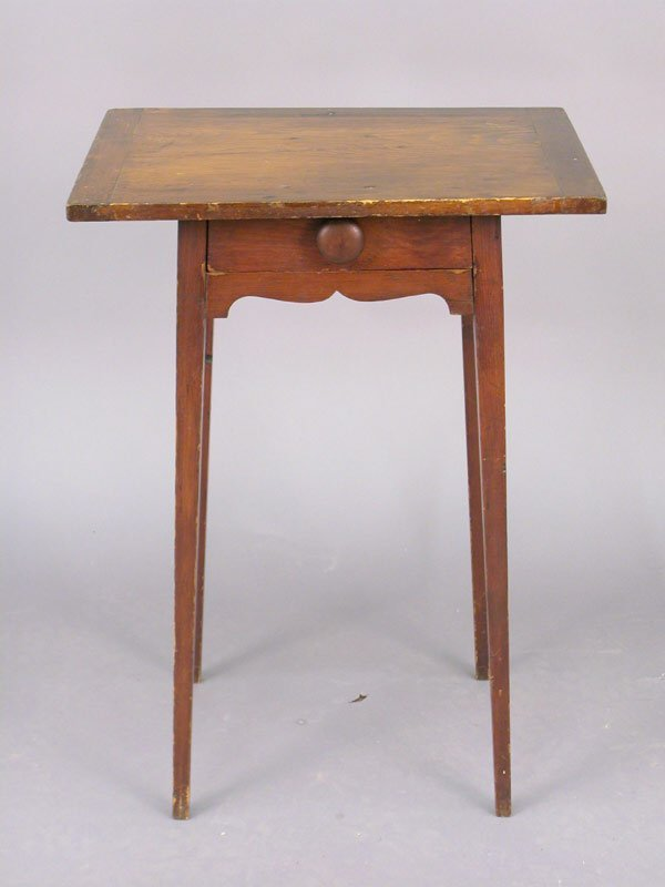 405: Primitive American side occasional table