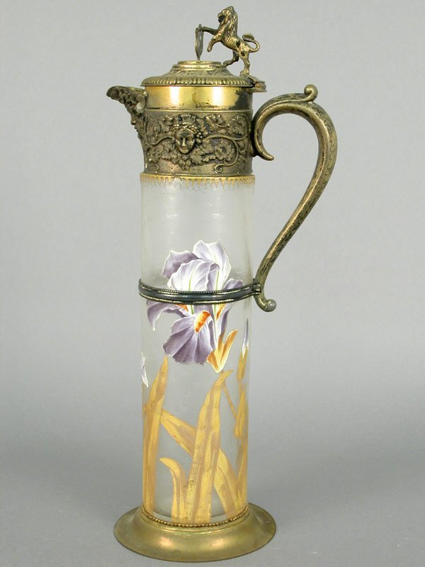 415: Mont Joye tankard pitcher. Cylindrical f