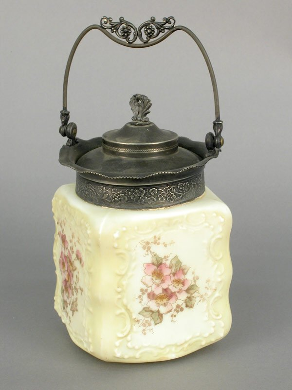 422: Two Wavecrest biscuit jars including an