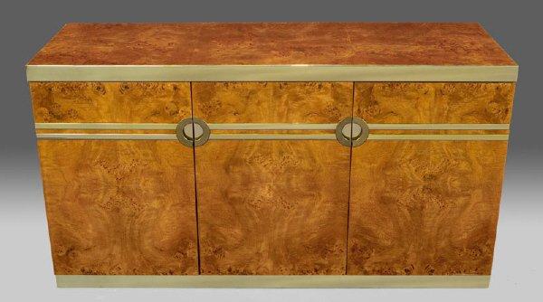 7: Pierre Cardin burl wood buffet,