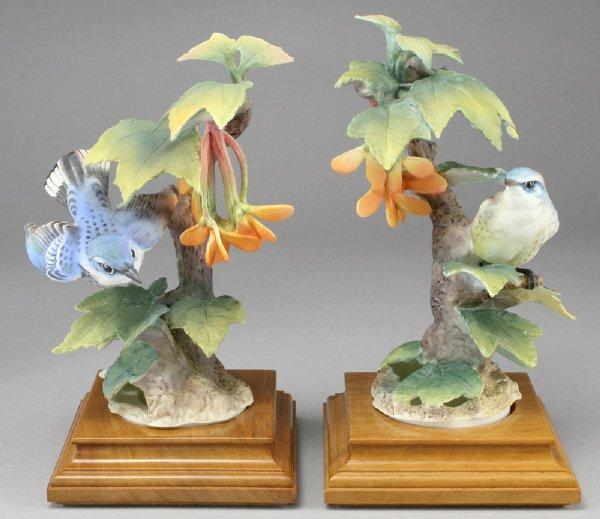 10: Pair Dorothy Doughty porcelain bird figures