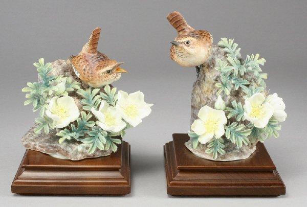 17: Pair Dorothy Doughty porcelain bird figures