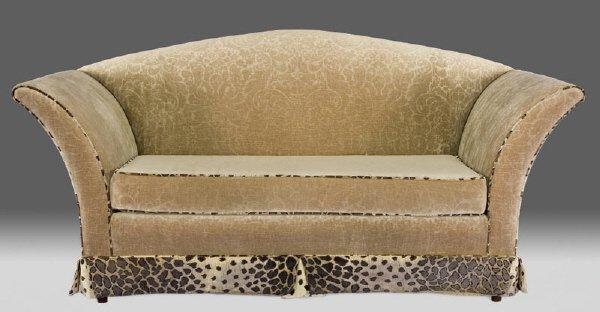 133: Custom made Contemporary Art Deco style sofa,