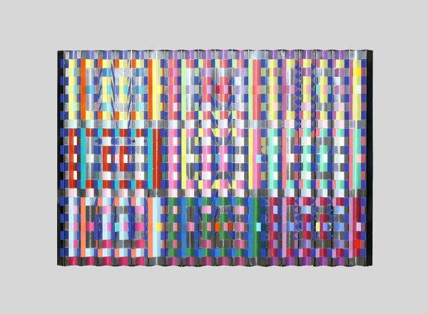 164: Yaacov Agam acrylic on corrugated aluminum titled