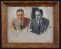 213 JC Leyendecker oil on canvas portrait of two