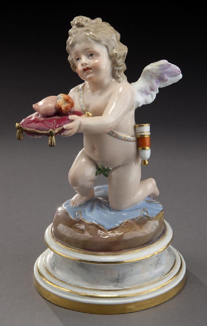 Meissen porcelain kneeling cupid