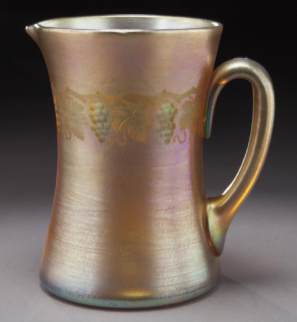 Tiffany favrile glass pitcher