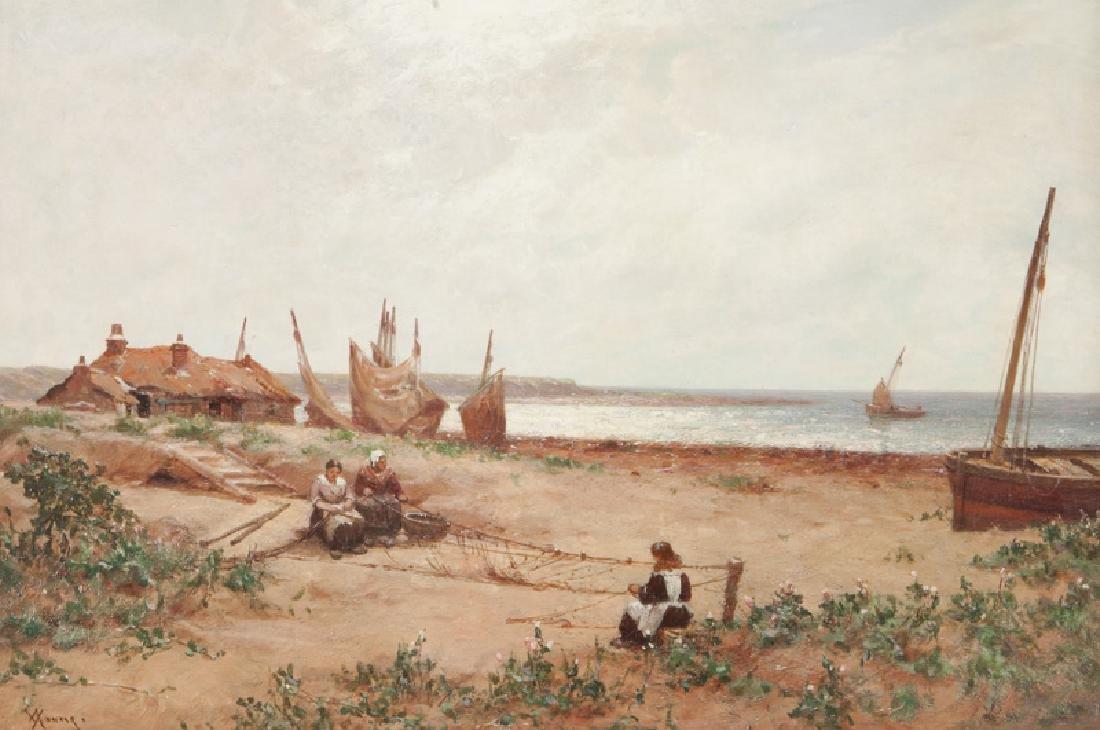 "Alexander Young ""Untitled (Women mending nets)"""