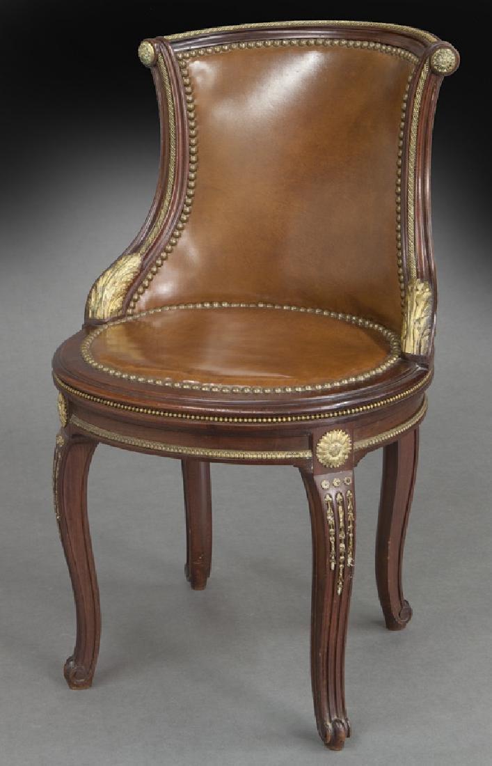Fine Regence style mahogany ladies chair,