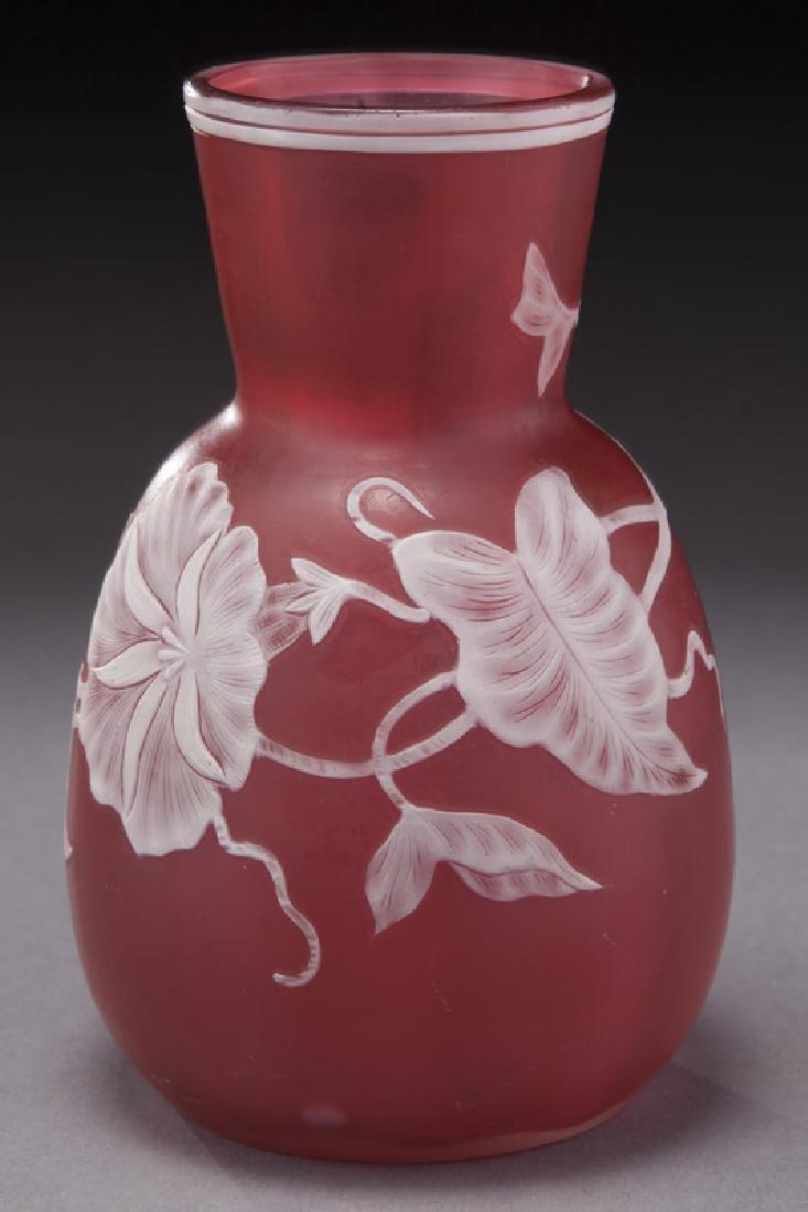Webb cameo glass vase