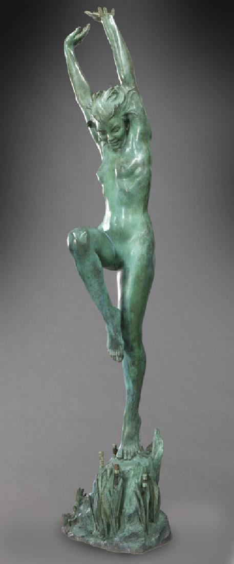 "Harriet Frishmuth ""Joy of the Waters"" bronze"