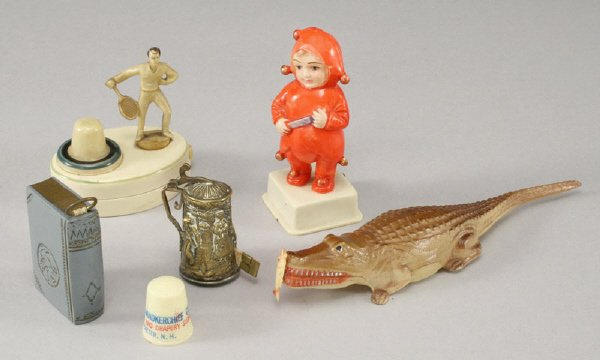 3: 6 Pcs. Vintage figural sewing tape measures