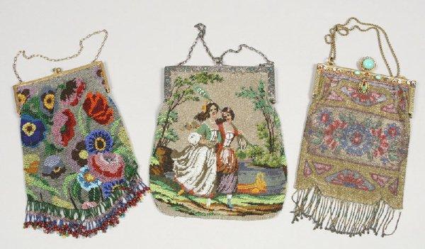 4: 3 Pcs. Fine vintage beaded purses