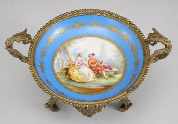 5: A Sevres porcelain ormolu mounted bowl