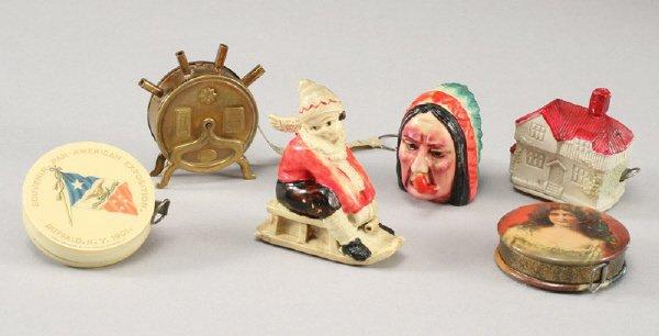 10: 6 Pcs. Vintage figural sewing tape measures