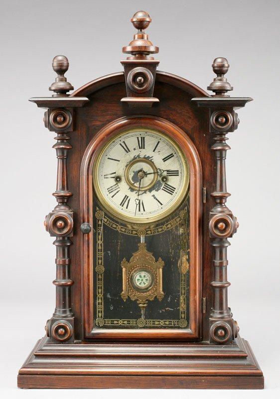 """17: American Welch """"Patti V.P."""" rosewood shelf  clock"""