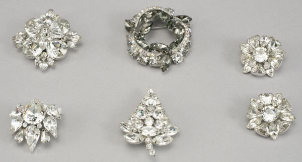 66B: 6 Pcs. vintage costume jewelry by Eisenberg and