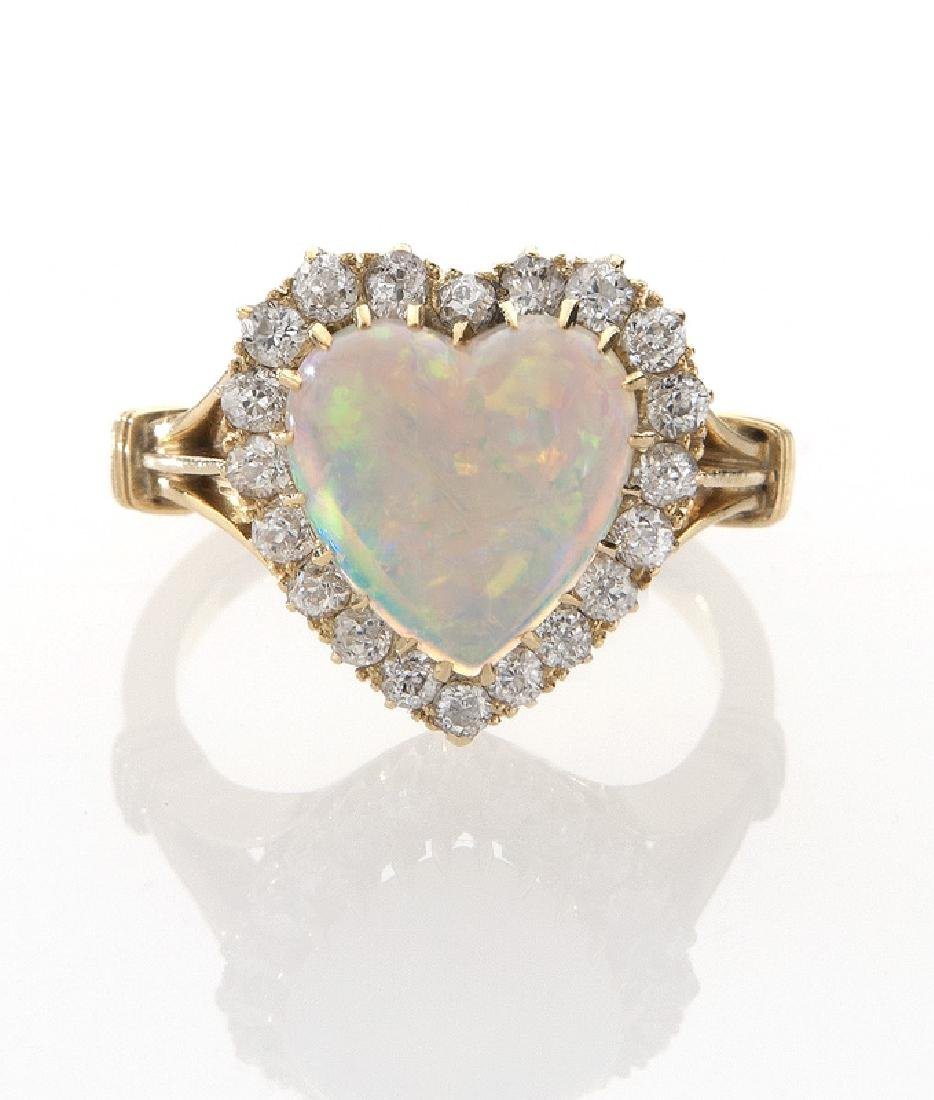 Victorian/Edwardian 18K gold, diamond and opal - 2